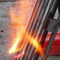 Płonąca paleta. #płomień