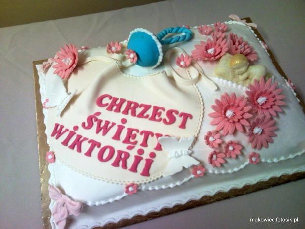 Torcik na chrzciny dla Wiktorii #chrzest #tort #chrzciny #kościół