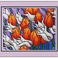 tulipany #tulipany #HaftKrzyzykowy #rękodzieło