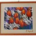 haftowane tulipany #HaftKrzyzykowy #tulipany #rękodzieło #RobótkiRęczne #obrazek