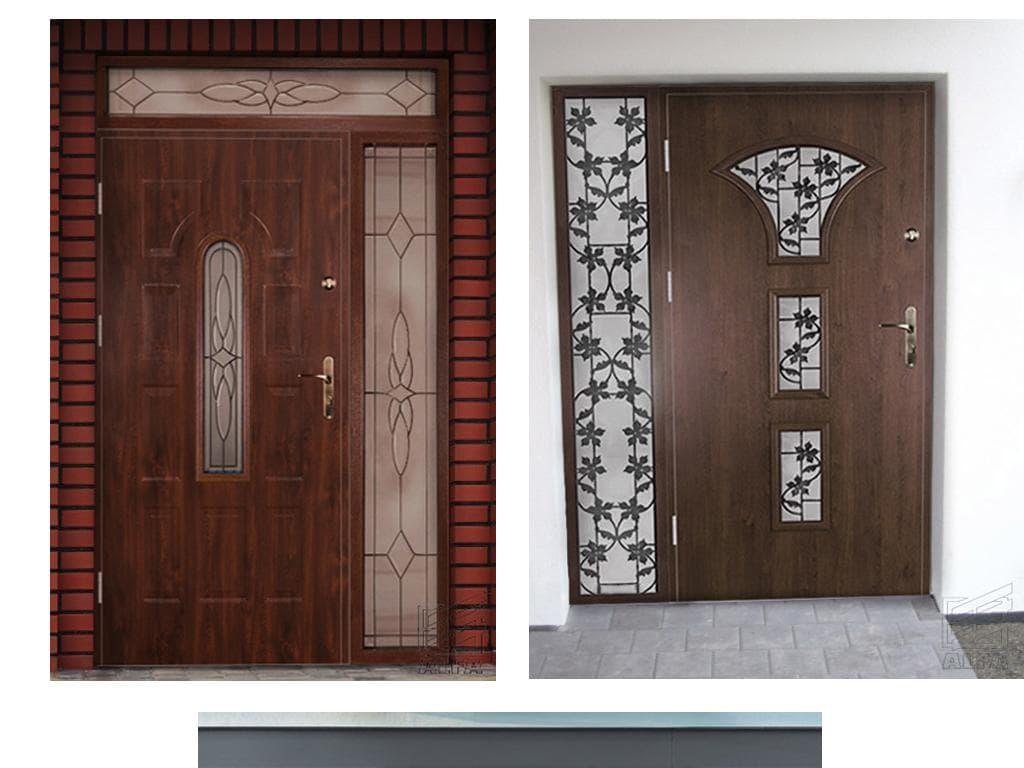 двери входные двухстворчатые с остеклением
