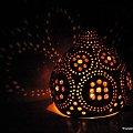 Lampa z tykwy nr 1 - wykonałam ją samodzielnie #lampa #tykwa