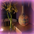 lampa z tykwy 2 - wykonana samodzielnie #decoupage #lampa #StaraŻelazko #tykwa