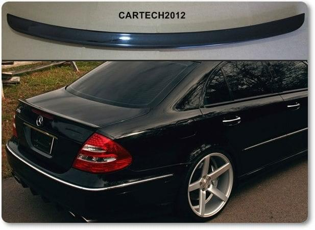 mercedes e class w211 rear boot spoiler tuning. Black Bedroom Furniture Sets. Home Design Ideas