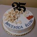 25 -ta rocznica ślubu #rocznica #tort #róże
