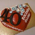 40 - ta rocznica ślubu #serce #tort #rocznica #czterdziestka