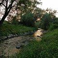 moja rzeczka o zachodzie słońca :) #Chomiąża #Czechy #NaWsi #Opava #rzeka #zachód