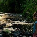 moje słoneczko nad rzeczką :) #Chomiąża #Czechy #NaWsi #Opava #rzeka #zachód #Dominika