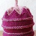 czapka z ogonkiem #czapka #druty #włóczka