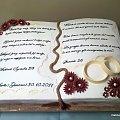 17/ 20 kg torcik na wesele Polsko - Włoskie #wesele #TortyWeselne #tort #obączki