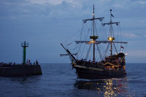 Darłówko 2010 #morze #StatekWycieczkowy #Darłówko #port #Bałtyk