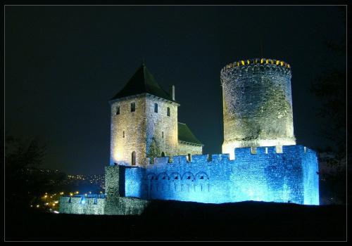 Zamek w Będzinie, w tle Będzin/Czeladź... #Będzin #zamek