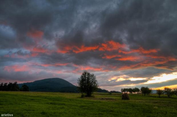 Landszafcik... #arietiss #chmury #HDR #krajobraz #niebo