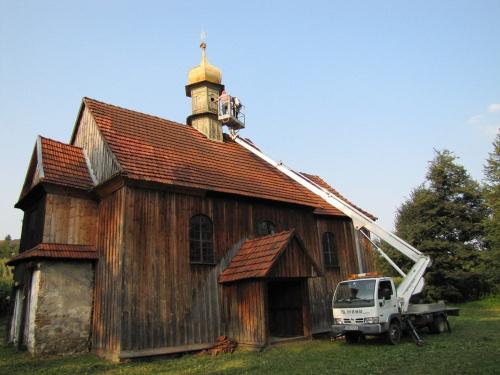 Nasz Kościółek. Spróbujemy przywrócić mu świetność. Pierwszy etap prac - diagnoza. Ja też byłam tam wysoko, oglądałam wnętrze wieżyczki.