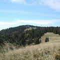 Turbacz i polana Wolnica z Hali Długiej #góry #beskidy #gorce #turbacz #HalaDługa #HalaTurbacz #CzołoTurbacza #turbaczyk