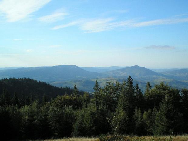 Luboń Wielki i Szczebel z Turbaczyka #góry #beskidy #gorce #turbacz #HalaDługa #HalaTurbacz #CzołoTurbacza #turbaczyk