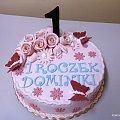 1 roczek Dominiki #tort #jedynka #motylki #urodzinyróze