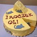 Torcik na pierwsze urodziny Oli #serek #tort #roczek #mysz #myszki #ser #urodziny