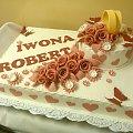 Torcik weselny z obrączkami 9 kg #TortWeselny #wesele #torty #tort #obrączki #motylki