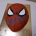 Spider -Man głowa #SpiderMan #pająk #pajaki #tort #głowa #hed