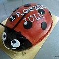 Biedronka na 1 Roczek #biedronka #owad #tort #torty #roczek