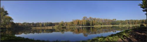 Staw Rzęsa #panorama #park #jesień #staw #rzęsa