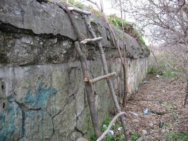 Ściana tylna #bunkier #TwierdzaKraków
