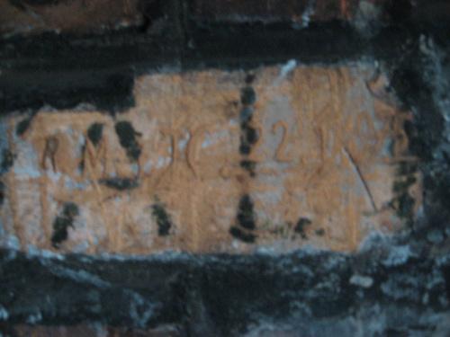 Napisy na cegłach #bunkier #TwierdzaKraków