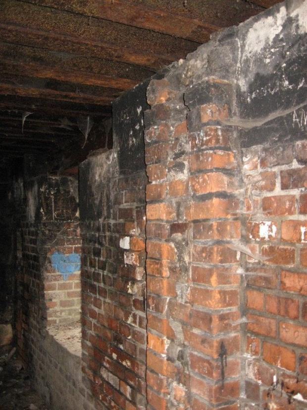 Ściana bunkra przy wejściu #bunkier #TwierdzaKraków