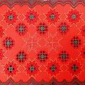 czerwona serwetka #hardanger #świeta #ŚwiaytecznaSeretka #BożeNarodzenie