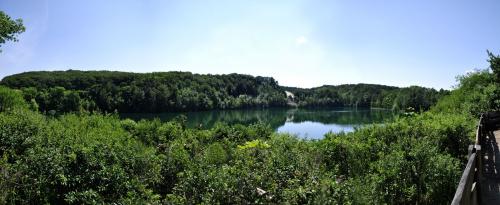 Jezioro turkusowe w Wapnicy #jezioro #wapnica #wakacje #woda #drzewa
