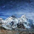 widok na region Everestu z chyba najlepszego miejsca, Kala Patar 5550 metrow #gory #Himalaje #ludzie #natura #Nepal #przyroda