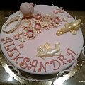 Torcik dla Aleksandry #chrzciny #TortyChrzcinowe #toty #tort #rocznica