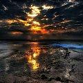 niepowtarzalny wschod tylko dzieki chmurom #chmury #ocean #poranek #przyroda #woda #WschódSłońca
