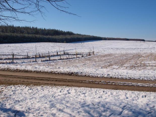 #krajobraz #śnieg #zima #widok #Mazury