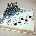 torcik urodzinowy #tort #nuty #impreza #gwiazda