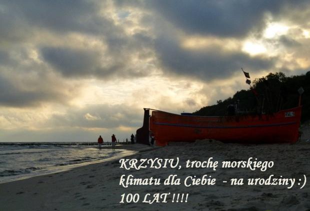 Wszystkiego: co najlepsze, najpiękniejsze, najwspanialsze !!!! 100 LAT !!! #Bałtyk #lato #morze #urodziny #zachód #życzenia