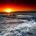 początek gorącego dnia #chmury #ocean #poranek #przyroda #woda #WschódSłońca