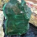 Malachit przekrój szlifowany #minerały
