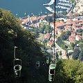 Widok z kolejki linowej na Laveno #KolejkaLinowa #Kolejka #Wyciąg #SassoDelFerro #Włochy #góry