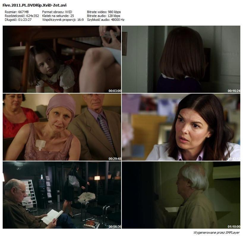 Pięć / Five (2011) PL.DVDRip.XviD-Zet / Lektor PL