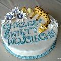 Torcik z żyrafką !!! #chrzciny #żyrafa #TortyOkolicznościowe #tort
