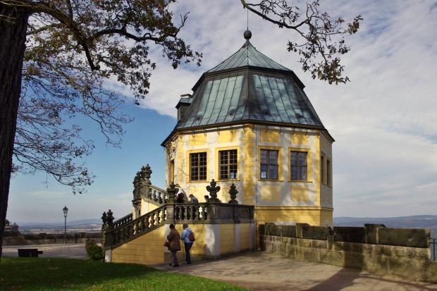 dokładnie sprzed roku, z wycieczki- jeden z obiektów twierdzy Königstein- zamek Fryderyka