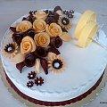 tort na Rocznicę ślubu #rocznica #tort #TortyOkazjonalne #obrączki