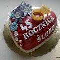 45 rocznicaślubu #serce #tort #rocznica #TortyOkazjonalne