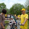 Bez obawy dosiadła roweru #PttkRajdOsiek
