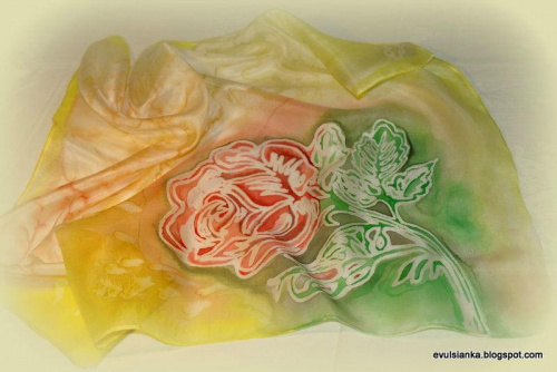 Jedwab ręcznie malowany (moje nowe hobby) #ApaszkiJedwabne #ChustyJedwabne #jedwab #JedwabRęcznieMalowany #silk #SzaleJedwabne