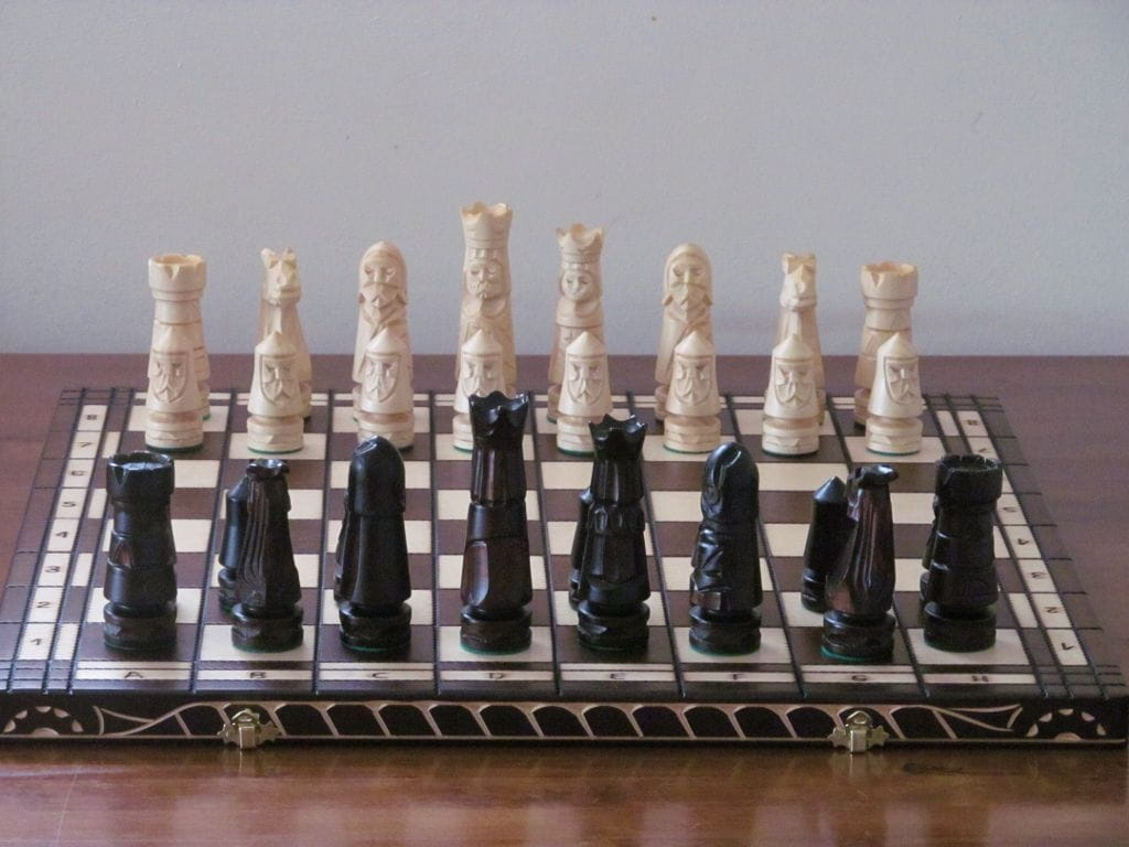 Brand New Luxury Hand Carved Wooden Chess Set 56cmx56cm