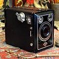 Agfa Box 45 Producent: Agfa Camera-Werk AG, Munchen, Deutschland. Format zdjęć: 6x9 cm (film 120) Produkowany: 1938-1942 rok. #Aparat