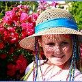Lato w kapeluszu #Lato #dziewczynka #portret